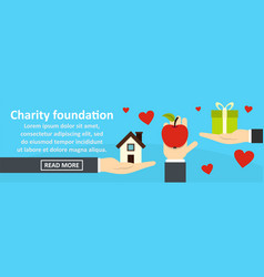 charity foundation banner horizontal concept vector image