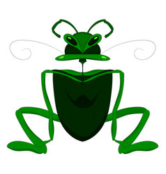 Child s drawing of a mantis or grasshopper vector