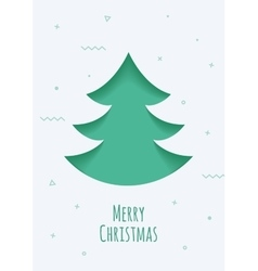 Christmas card with a green background in the vector