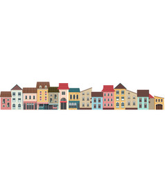 city street horizontal vector image