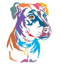 Colorful decorative portrait mongrel dog vector