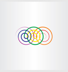 colorful spirals design element vector image
