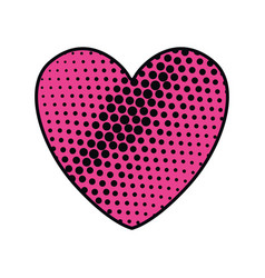 Comic heart isolated icon vector