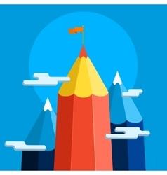 Concept of creative success Goal achievement vector