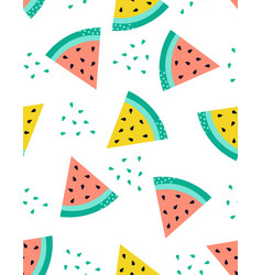 creative seamless pattern watermelon vector image