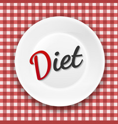 diet plate vector image