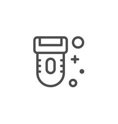 epilator line icon vector image
