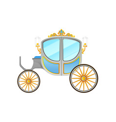 Flat icon of royal horse-drawn carriage vector