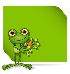 Frog and green background vector