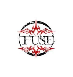 Fuse letter logo design template vector