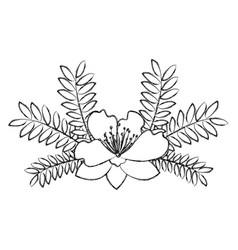garden flowers decorative icon vector image