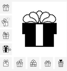 gift box with a bow or present icon isolated vector image vector image