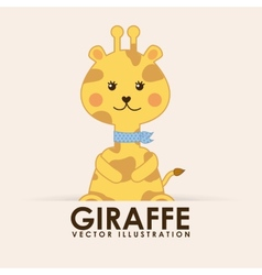 giraffe cute vector image