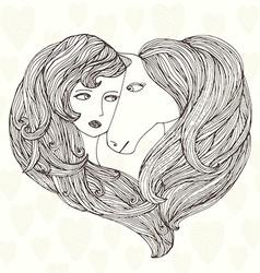 GirlLovesHorse vector
