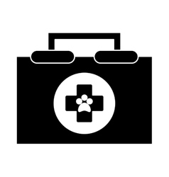 Isolated medical kit and vet design vector