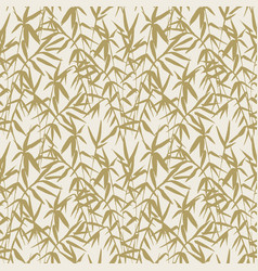 Japanese bamboo seamless pattern with beige bamboo vector