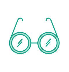 laboratory glasses isolated icon vector image