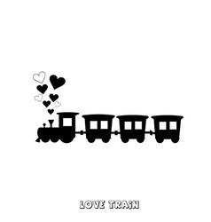 Love train card vector image