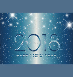 metallic style happy new year background vector image