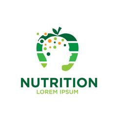 mind nutrition logo designs vector image