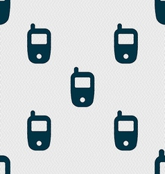 Mobile telecommunications technology symbol vector image