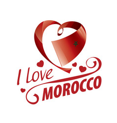 National flag morocco in shape a vector