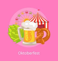 Oktoberfest food and drinks vector