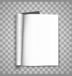 Open paper journal paper journal blank vector