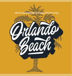 Orlando beach original modern script font vector