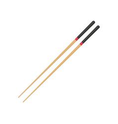 pair wooden chopsticks vector image