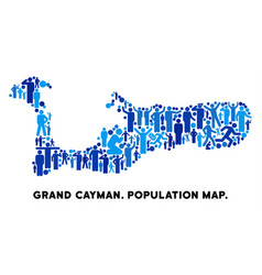 People grand cayman island map vector