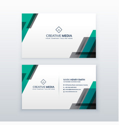 professional clean business card design vector image