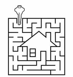 real estate maze vector image