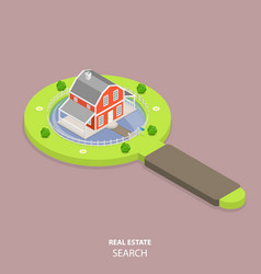 real estate search flat isometric concept vector image