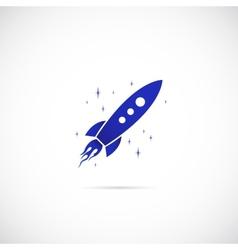 Rocket in Space Symbol Icon vector image