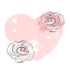 Romantic rose border design vector