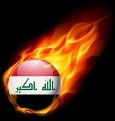 Round glossy icon of iraq vector image