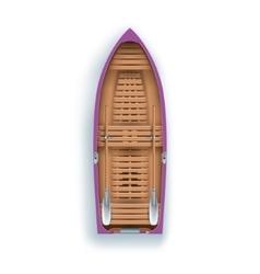 Rowing boat promenade vector