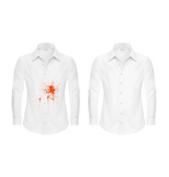 Set of of a white shirt with vector