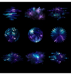 set of shiny mosaic elements vector image vector image
