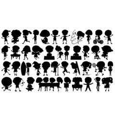 Set silhouette character vector