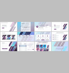 set templates for website design vector image