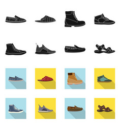 Shoe and footwear sign vector