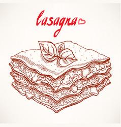 Sketch lasagna vector