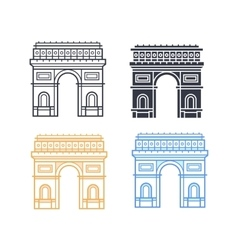 The Arc de Triomphe vector