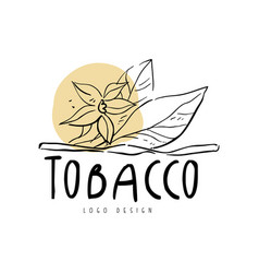 Tobacco logo design element can be used for smoke vector