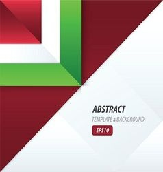 triangle template red and green color vector image