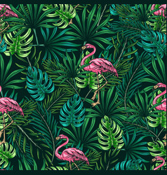 tropical colorful vintage seamless pattern vector image