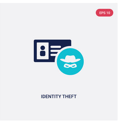 two color identity theft icon from cyber concept vector image