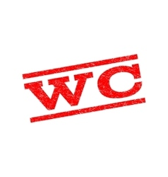 Wc watermark stamp vector